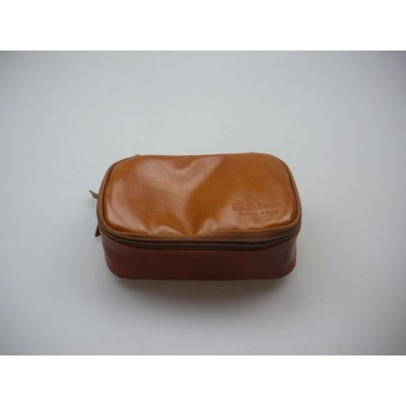 ALDEN Tan Calfskin Travel...